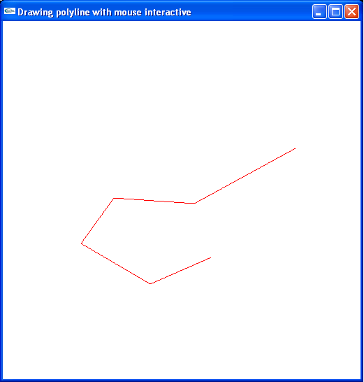 Drawing Polylines using Mouse Events using OpenGL - Computer